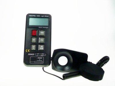 TECPEL 泰菱 》照度計 FC LUX 2萬 記憶式照度計 RS232 照度記錄器 DLM-536 降價