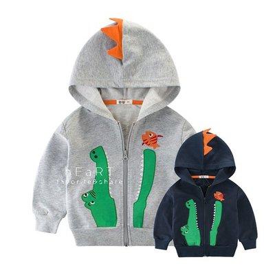 【可愛村】鱷魚吃小魚立體造型連帽長袖外套 童裝 秋冬外套