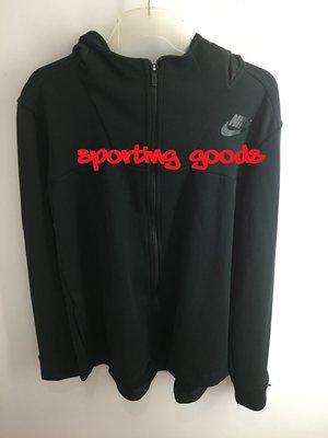 S.G Nike AV15 Fleece Cape 黑色 防風 透氣 袖袋 連帽外套 口袋 822147-010