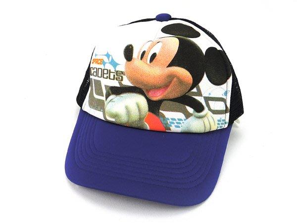 ☆二鹿帽飾☆【MICKEY 】男女皆可‧潮流配色『丹寧風』網帽.棒球帽.板帽/街舞風格-藍色