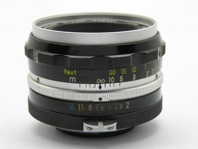 尼康 NIKON NIKKOR-H 50mm F2 Auto 老鏡 人像 標準鏡頭 全幅 (三個月保固)