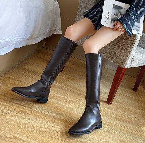 SeyeS  個性英倫歐美時尚搖滾百搭細腿基本款長靴