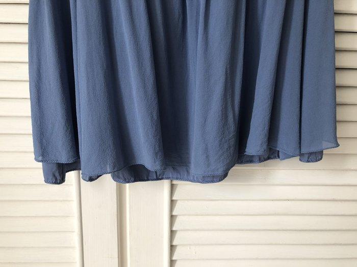 夏姿 水藍純絲圓裙