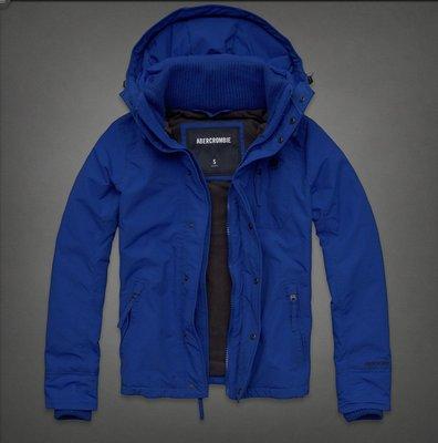 ☆瘋米國衣舖☆ Abercrombie&Fitch 藍色 男生連帽防風外套 A&F AF 夾克 保暖 防寒 含門市吊牌