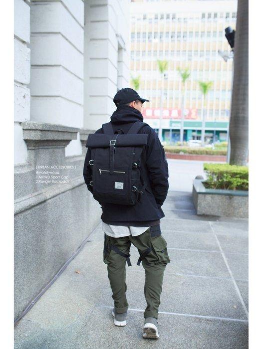 【Matchwood直營】Matchwood Ranger 後背包 全黑款 內15吋筆電夾層 可防潑水抗污 開學限時優惠