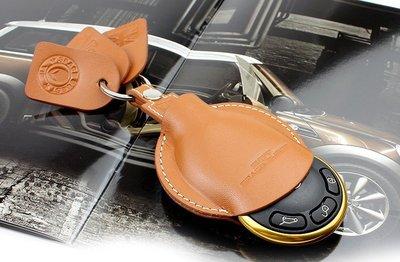 寶馬迷你Mini Cabrio Cooper Clubman Mini Hatch 鑰匙包專用真皮鑰匙套