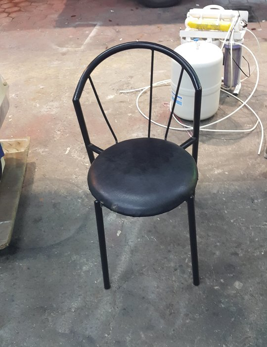 樂居二手家具 全新中古傢俱家電賣場 F0116BJE 黑色皮面餐椅*洽談椅 書桌椅 電腦椅 辦公椅 2手各式桌椅出清拍賣