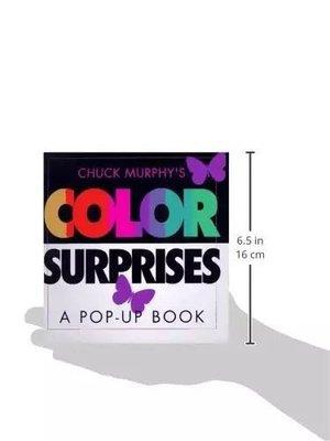英文原版 Color Surprises Pop-up Book 色彩主題立體書兒童閱讀玩具書 英語入門啓蒙認知繪本 顏色讀物書籍