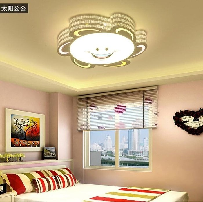 正韓 - 現代簡約卡通創意LED吸頂燈 臥室燈餐廳客廳燈具兒童房燈 【全館免運】