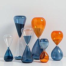 〖洋碼頭〗北歐創意個性水滴玻璃沙漏擺件10分鐘計時器客廳辦公室裝飾品禮物 bhm347