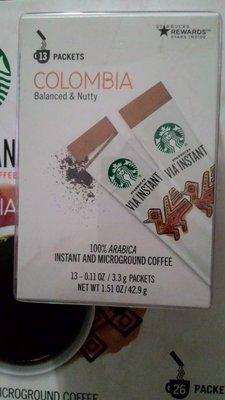 美國COSTCO好市多限定大份量星巴克STARBUCKS VIA哥倫比亞即溶咖啡(3.3gx26包)
