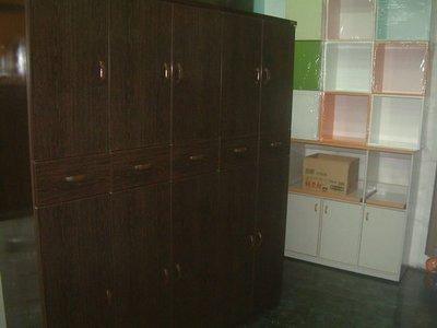【塑鋼舒美櫥櫃設計~訂做】~不怕水.不長白蟻~胡桃木紋色~塑鋼舒美收納兼鞋櫃