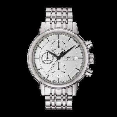 Tissot 天梭卡森系列鋼帶機械男腕錶 T0854271101100
