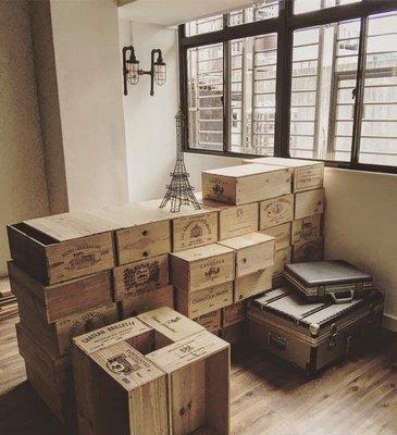 紅酒木箱,紅酒箱,部份有蓋,工業風百搭,質感居家小物