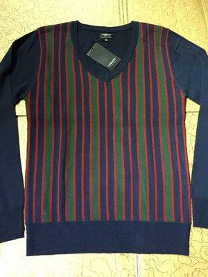 [變身館日本服飾]~CORISCO~針織衫~毛衣~上衣~條紋~V領~日本購入~全新現品~出清價~M