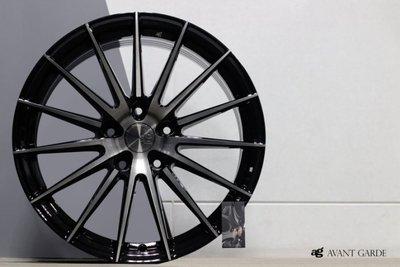 【超前輪業】美國品牌 正品 AG M615 旋壓輕量化 17吋鋁圈 5孔108 114.3 120 100 黑底染黑透