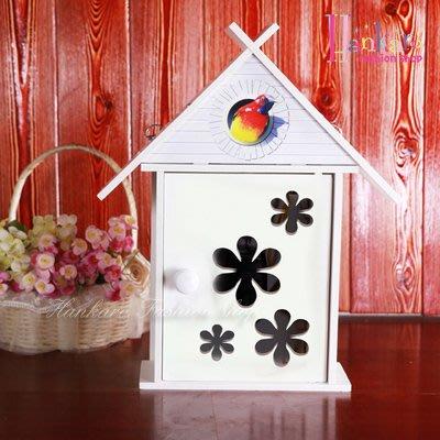 ☆[Hankaro]☆現代簡約DIY房屋造型雕花裝飾鑰匙收納盒掛飾(微瑕疵出清)