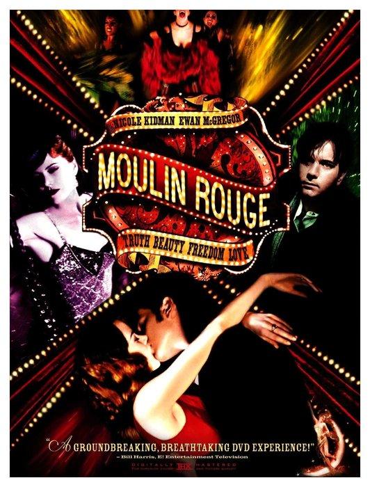 Moulin Rouge_躍動_DVD紅磨坊最好歌舞電影巴茲魯曼妮可基嫚伊旺麥奎格凱莉米洛美國版雙碟特別版收藏版特別收錄