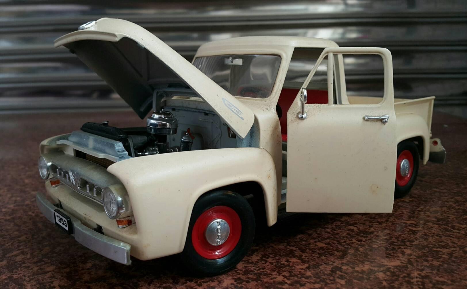 絕版貨卡  老爺車 1953 FORD PICK UP 合金靜態模型 歡迎天母賞車