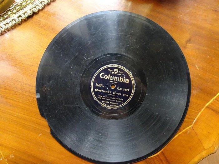 【卡卡頌 歐洲跳蚤市場/歐洲古董】荷蘭Columbia_Billie Anthony 十吋78轉 西洋老歌黑膠唱片