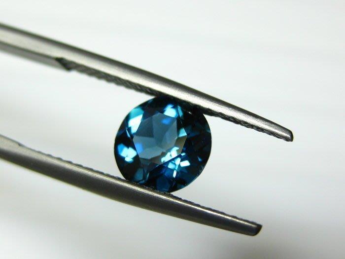 【Texture & Nobleness 低調與奢華】天然寶石 倫敦藍托帕石 1.4克拉