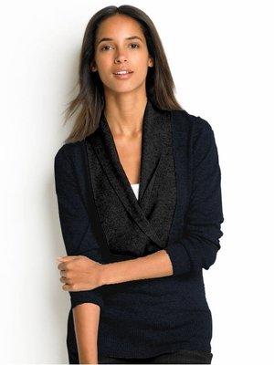 cocololo小舖:Banana Republic 女士深藍色混羊毛Cashmere毛衣 (XL號) (680786)