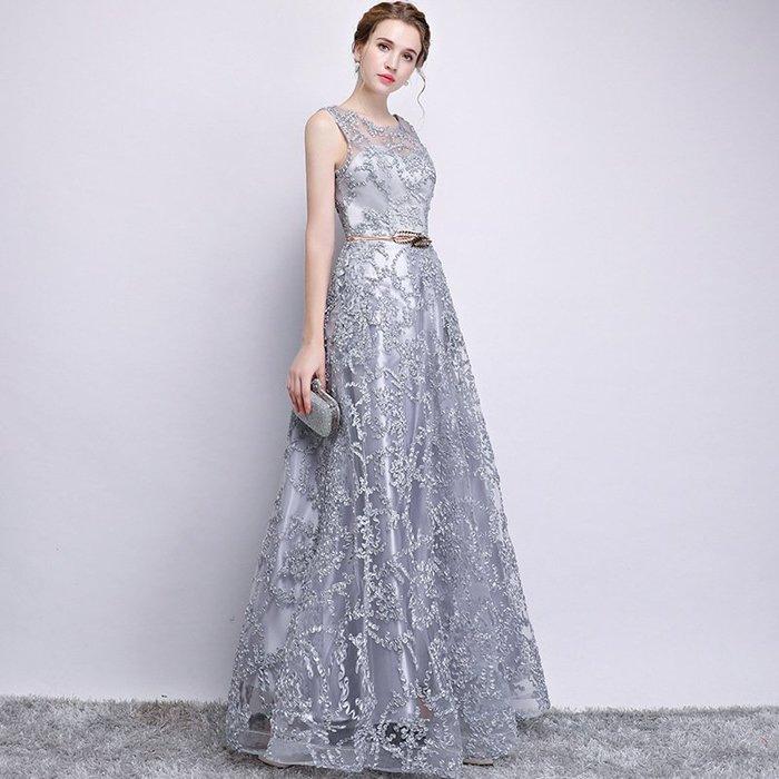 {免運}禮服洋裝 宴會晚禮服端莊大氣修身顯瘦連身裙 【飛魚家飾】