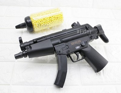 [01] UHC MP5A5電動槍-連發 送電池 + 0.12g BB彈 (BB槍BB彈玩具槍長槍短槍衝鋒槍步槍卡賓槍