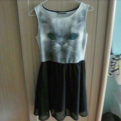 歐美品牌nasty gal購入貓咪雪紡紗裙洋裝連身裙