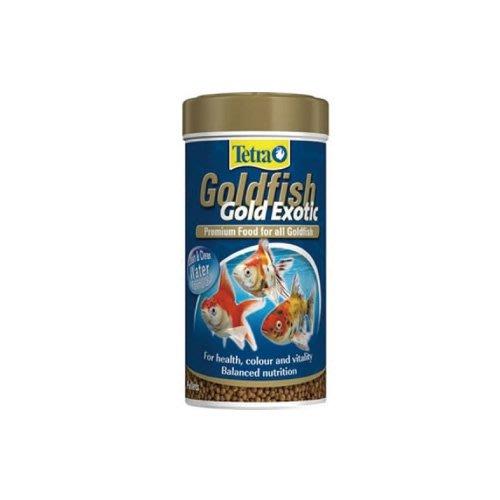 魚樂世界水族專賣店# 德國 Tetra Goldfish Gold Exotic 特殊金魚飼料 250ml 蘭壽