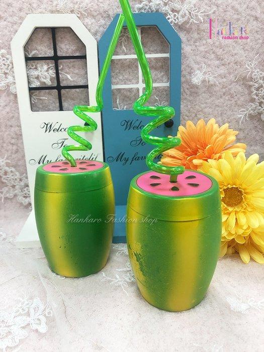 ☆[Hankaro]☆歐美創意派對布置道具西瓜造型塑膠水杯(微瑕疵出清)