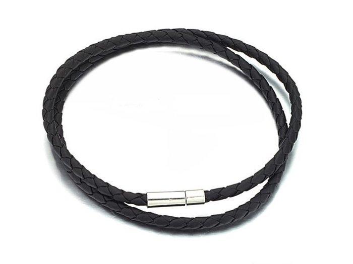 《316小舖》【滿100元-加購區-AB18】 (高級皮繩項鍊-百搭4mm皮繩項鍊-單件價-需消費滿100元才能加購)