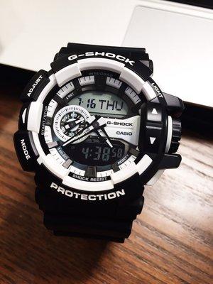 FOCA ☆ CASIO G-SHOCK 卡西歐 GD-400大錶徑 GA-400-1A 黑X白 黑太極 手錶