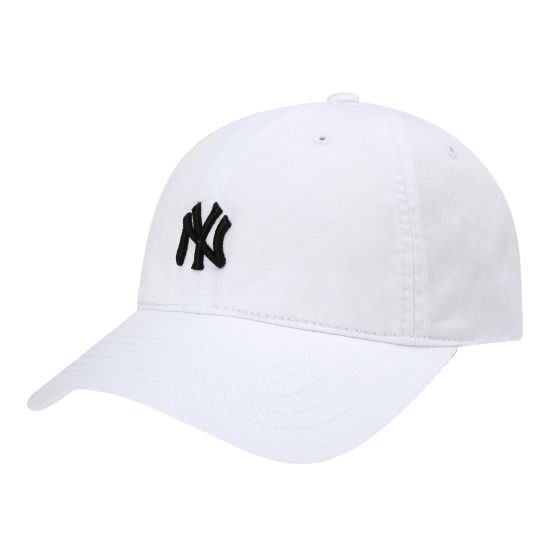 現貨特價【韓Lin連線代購】韓國 MLB --NY黑色小刺繡白色棒球帽 WASHING TEAM LOGO COVER