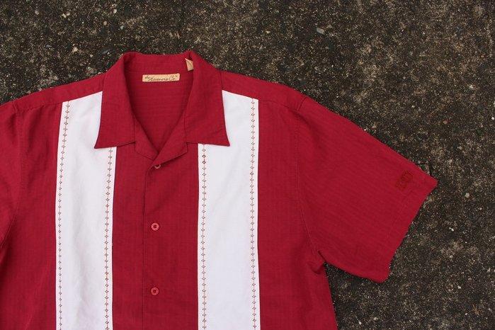 「蔣柒」日本帶回 The H.C Vintage 古著 紅色 復古襯衫 雙線襯衫 保齡球襯衫 L號 現貨 #324