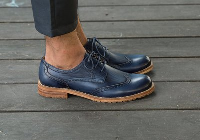 『老兵牛仔』BL03-1C英倫布洛克雕花繫帶真皮皮鞋/頭層牛皮/時尚/彈力/耐摩/個性