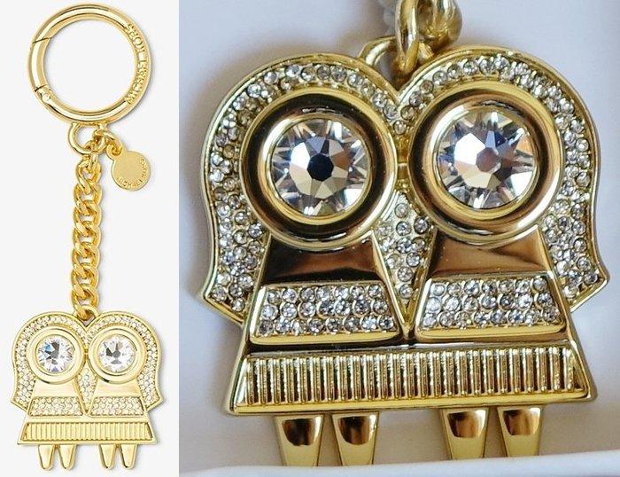 全新美國名牌 Michael Kors MK 金色鑲鑽金屬十二星座鑰匙圈系列 - 雙子座,附禮盒,低價起標無底價!免運!