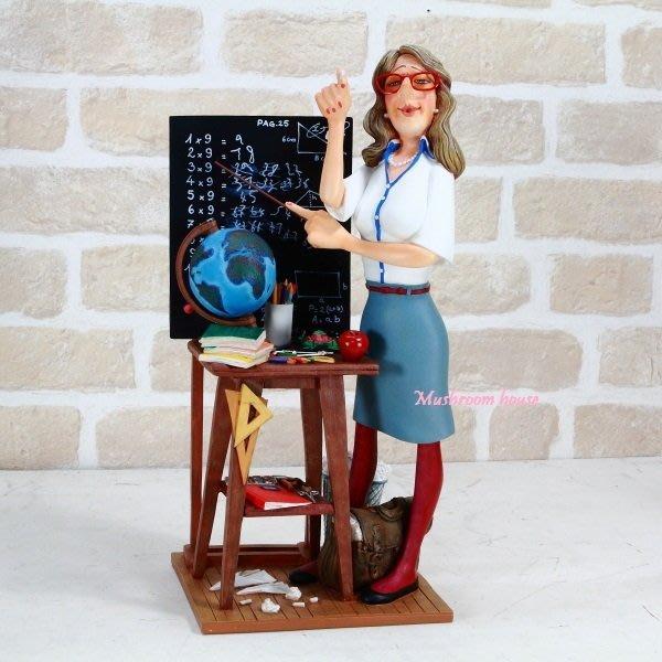點點蘑菇屋 歐洲進口 精緻法國社會寫實派設計師FORCHINO系列擺飾-職業系列之女教師 老師 講師 免運費