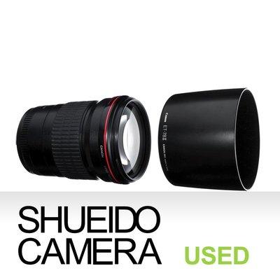 集英堂写真機【3個月保固】美品 / CANON EF 135mm F2 L USM 大光圈 望遠 定焦 鏡頭 10981