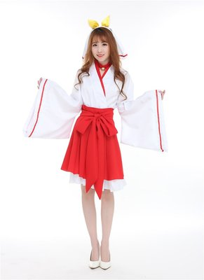 Red kimono cos cosplay clothes japanese outfits role play