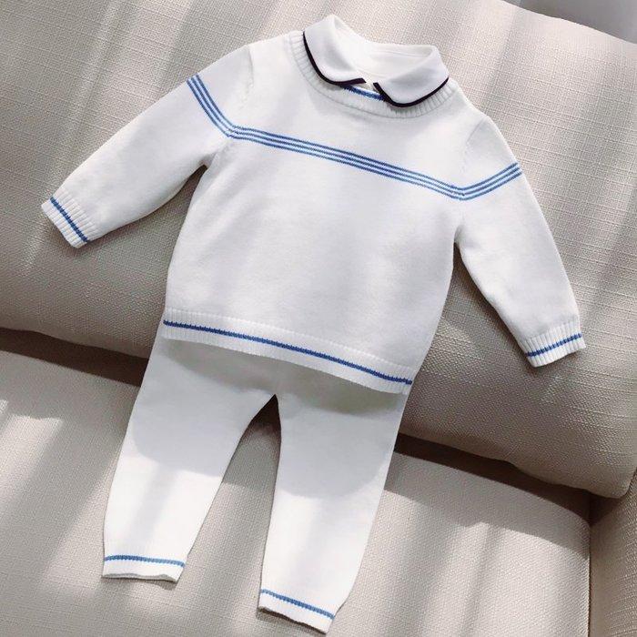 西西的賣場~寶寶春秋毛衣套裝男0--1歲嬰兒男童針織嬰幼兒新生兒線衣針織衫