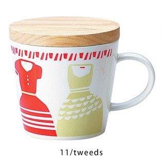 《散步生活雜貨-廚房散步》日本製 maebata 北歐雜貨  TWELVE MUGS 馬克杯(附杯蓋)-Tweeds