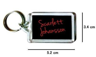 〈可來圖訂做-鑰匙圈〉Scarlett Johansson 史嘉蕾喬韓森 壓克力雙面鑰匙圈 (可當吊飾)