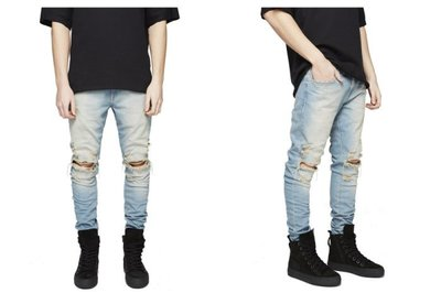 ►FINAL SALE 最後出清◄ 窄版破壞牛仔褲 (非 balmain represent slp dior)