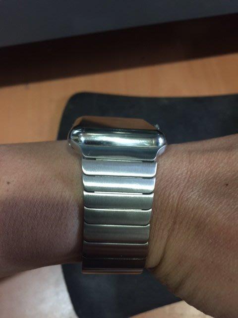 全台唯一!!100%一樣 apple watch 竹節式拆法 不鏽鋼錶帶 42mm 只有我有其他都是外銷