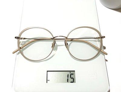 #YELLOWS_PLUS #ROMY #圓型 #52口19 #日本製造 #手工眼鏡#整支純鈦金屬