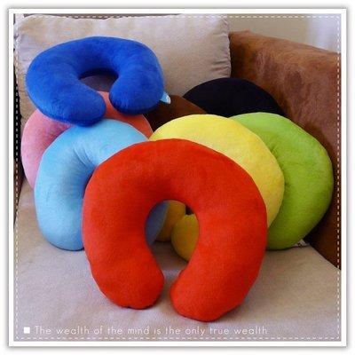 【贈品禮品】A2272 糖果色U型枕/午睡枕/護頸枕/旅行枕/健康頸椎枕/抱枕/車用枕/靠墊