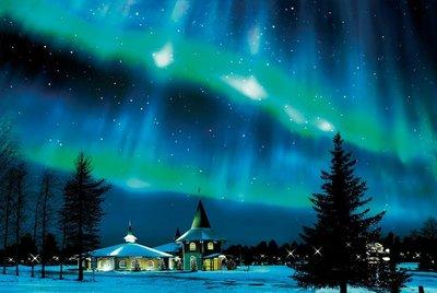 日本進口拼圖 風景 極光 芬蘭 1000片夜光拼圖 12-513