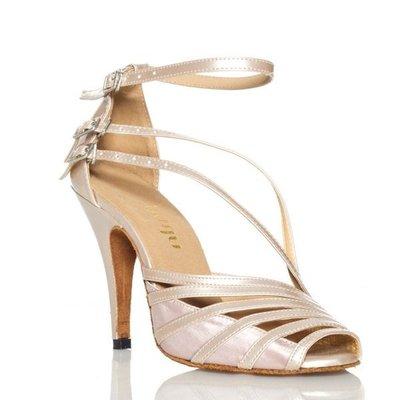 5Cgo【鴿樓】會員有優惠 37674554037 成人拉丁舞鞋女式 國際摩登廣場演出跳舞鞋子中高跟 高跟鞋舞鞋國標