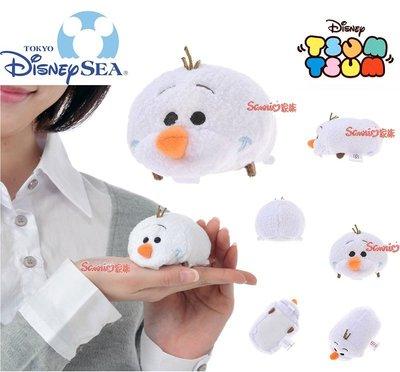《東京家族》東京迪士尼樂園限定TSUM TSUM 冰雪奇緣 雪寶 絨毛玩偶公仔螢幕擦(S)